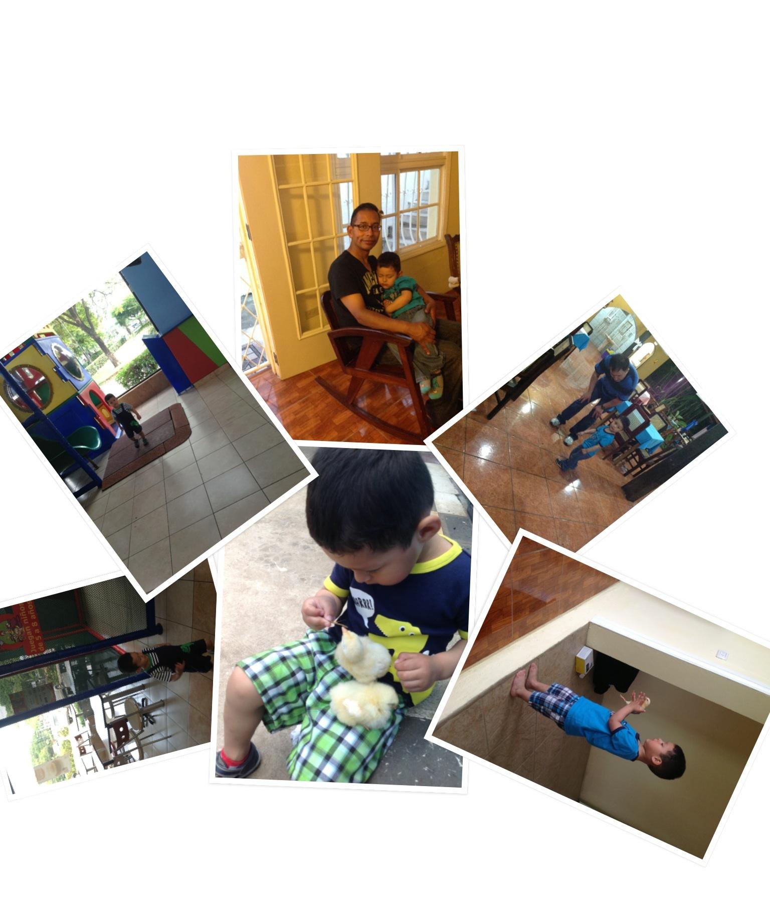 Lucas gozando por las Tierras Nicas                       Lucas haveing fun at Nicas lands