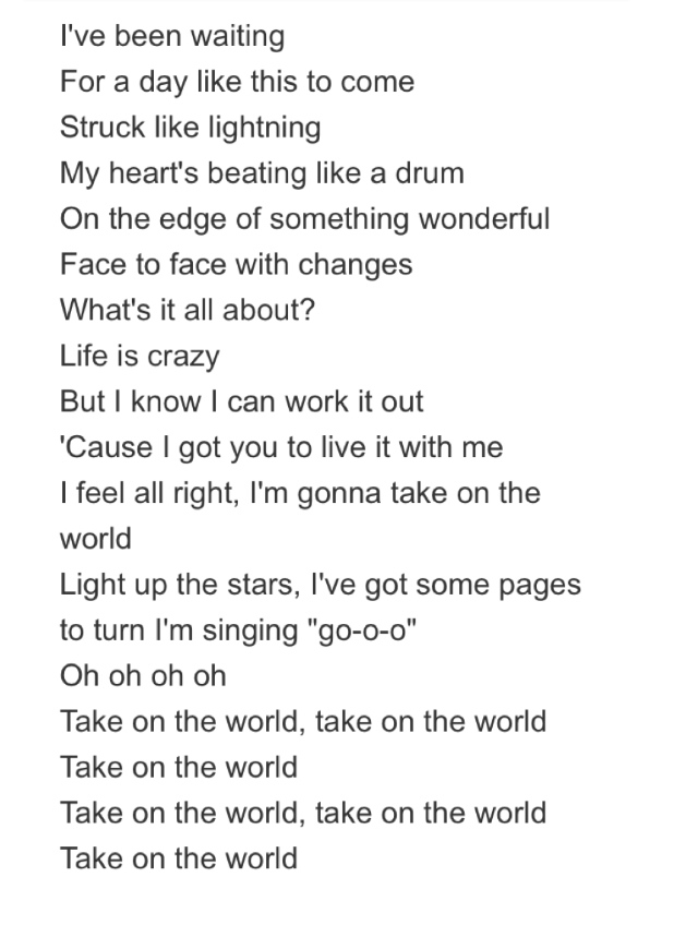 Take on the world lyrics girl meets world