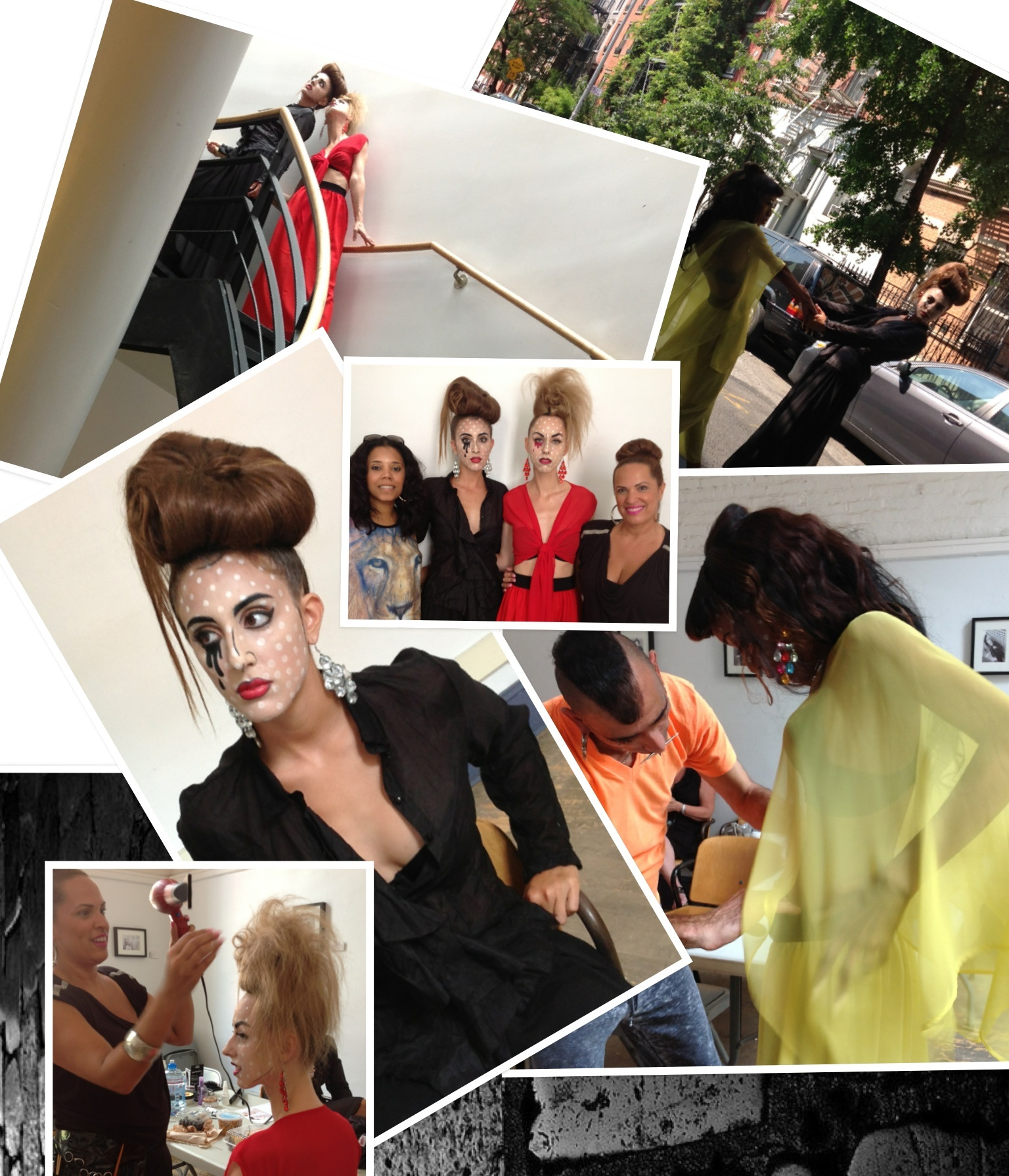 GlamSquad AC does NYC Fashion Editorial Fashion Shoot ft talented Designer Geary Marcello...Hair Artistry by Emily Mahan assited by me!