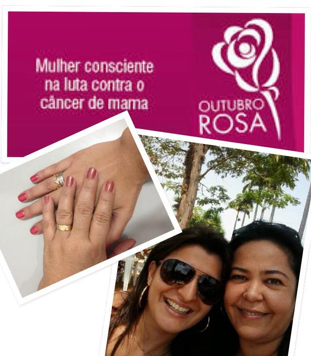 Eu e mamãe unidas pela conscientização!!! Outubro Rosa: procure seu ginecologista e faça o acompanhamento! Essa luta é de todas!!!