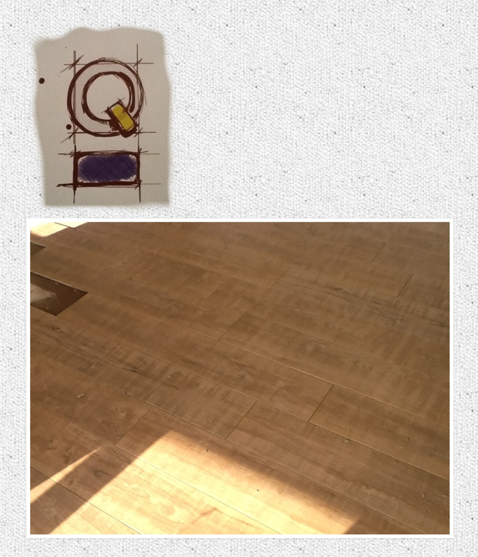 Dia lindo, instalando piso novo :)