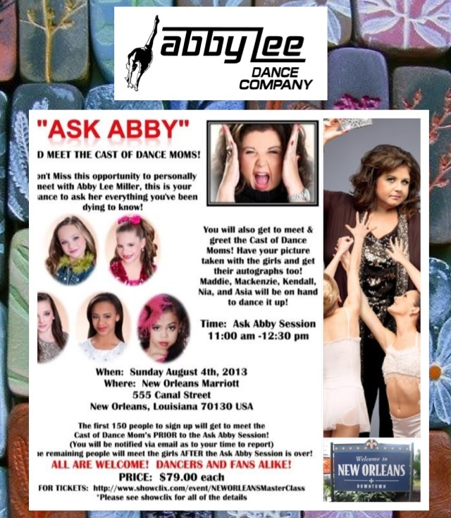 @Abby_Lee_Miller Meet the queen!Miss Abby Lee! Buy tickets here!#ALDCmasterclassNO showclix.com/event/NEWORLEANSMasterClass