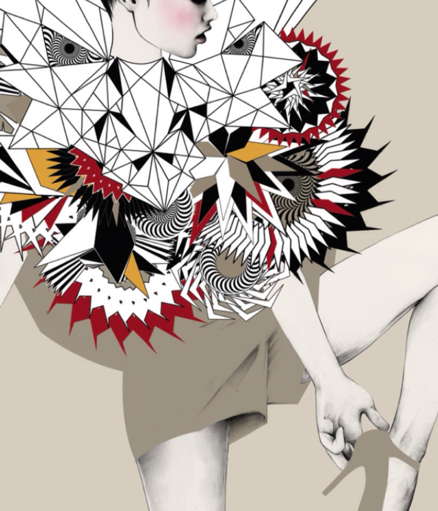 Digital fashion illustration with photoshop and illustrator 60