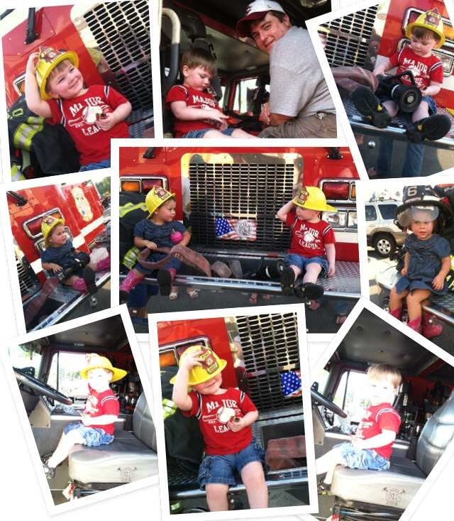 Fun at the Fire Expo! Even when the kids had to get off the truck because they got a call!