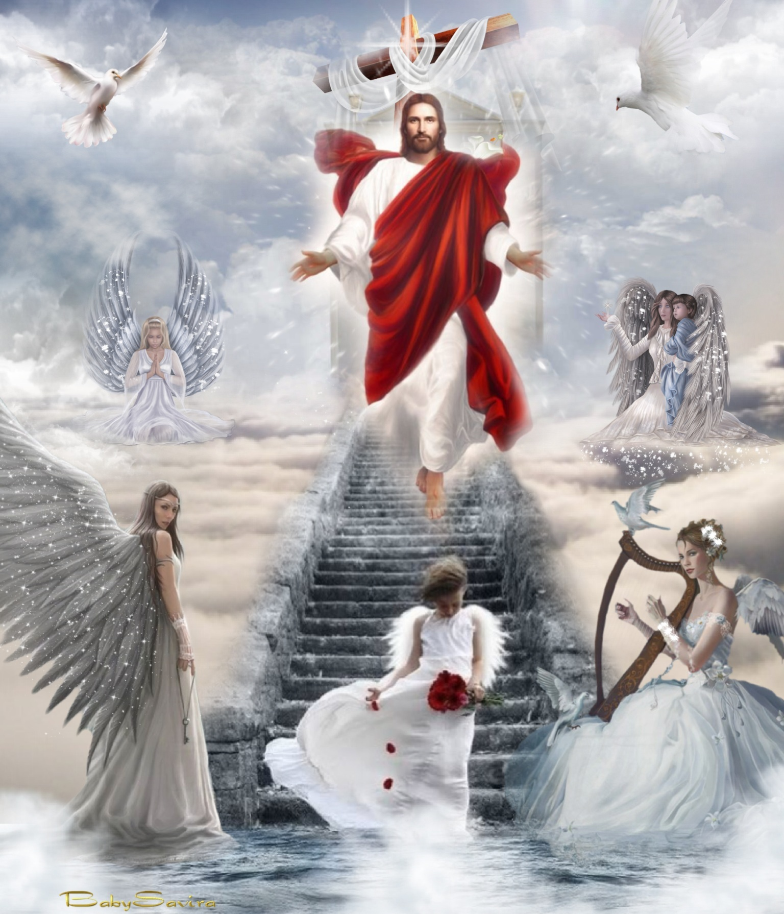 christ the holy spirit The holy spirit is one of three persons in one god, the holy trinity.