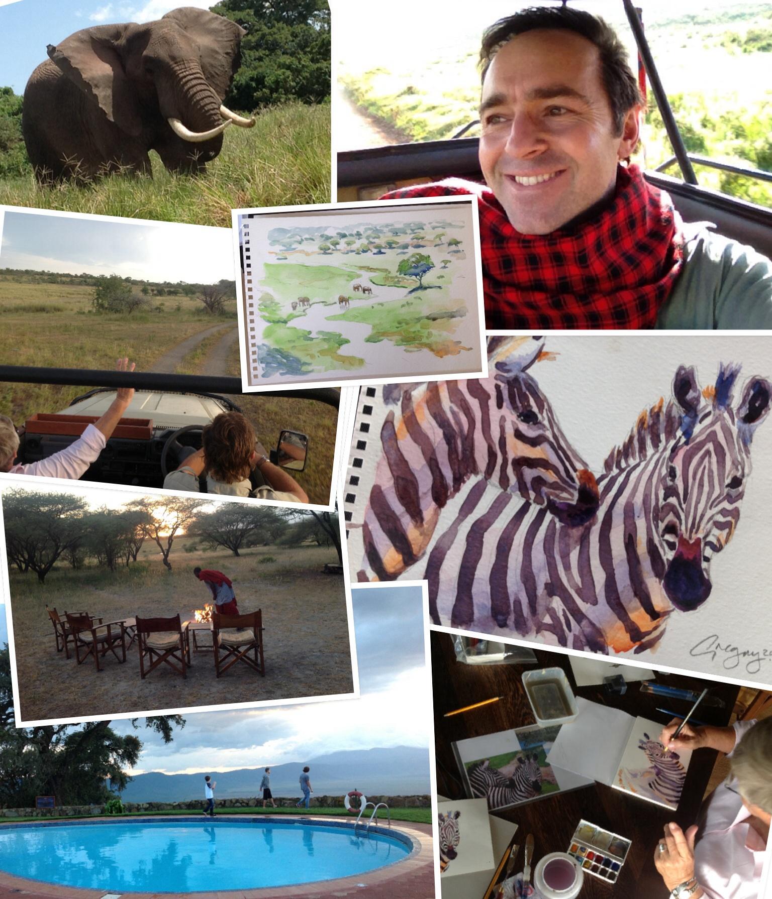 Quick art safari collage test