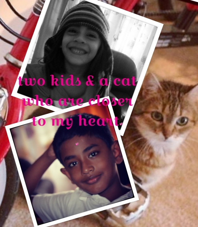 Two kids and a cat closer to my heart