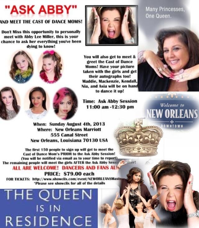 @Abby_Lee_Miller Meet the queen!Miss Abby Lee! Buy tickets here!#ALDCmasterclassNO showclix.com/event/NEWORLEANSMasterClass