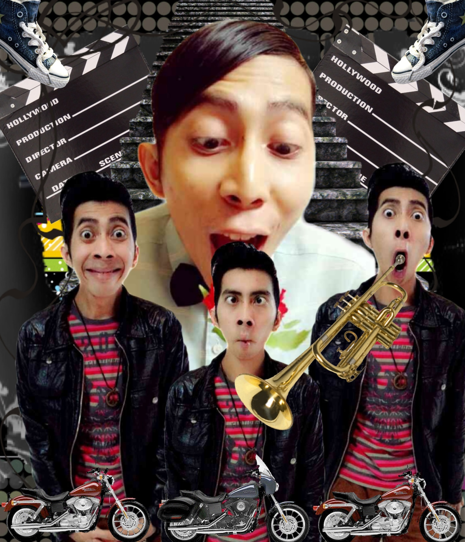 A gift for my friend, he's a comedian star from Indonesia, his name is Bacun...LOL ❤